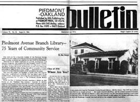 August 6, 1986 Piedmont/Oakland Bulletin